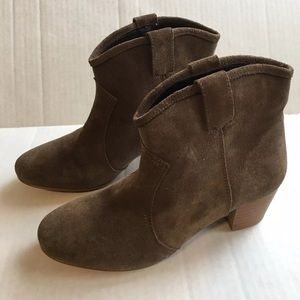 Dune London Brown Suede Ankle Boots Made In Spain